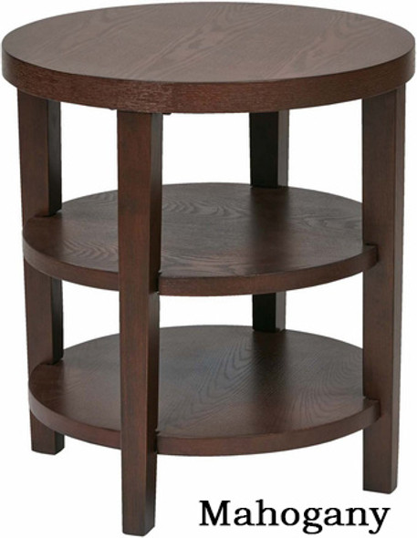 Merge Espresso Round End Table [MRG09] -2