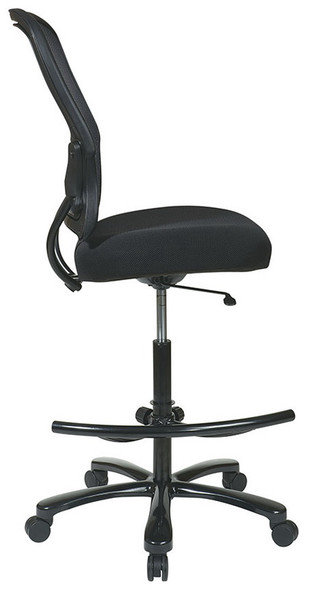 Mesh Back Heavy Duty Drafting Chair [15-37A720D] -side
