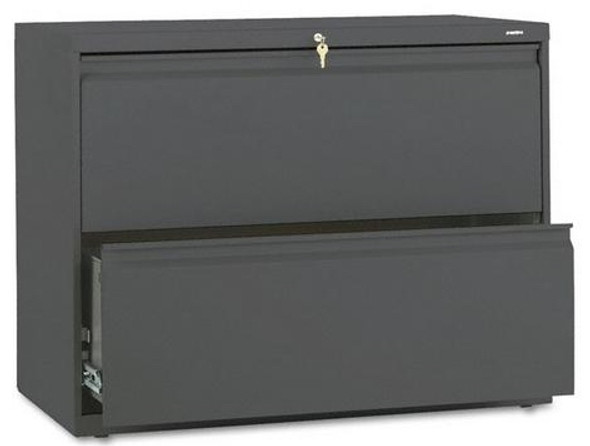 """42"""" Metal 2 Drawer Lateral File Cabinet [892L] -1"""