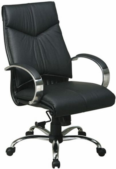 Mid-Back Executive Leather Desk Chair [8201] -1