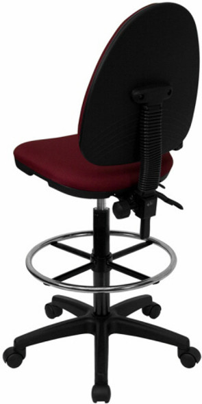Mid Back Multi-Function Counter Height Stool [WL-A654MG-BK-D-GG] -2