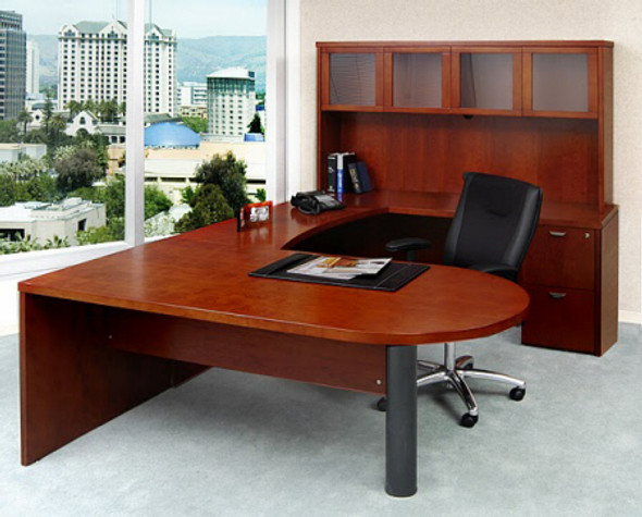 Mira U Shaped Office Desk with Hutch [MEU2] -1