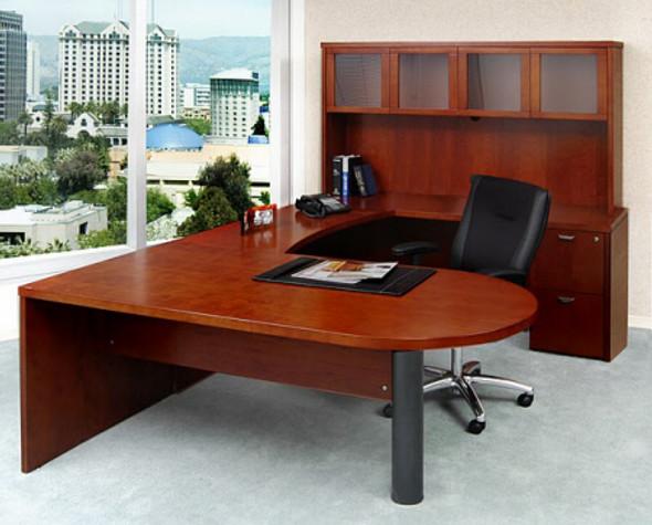 Mira U Shaped Office Desk with Hutch [MEU2] -1