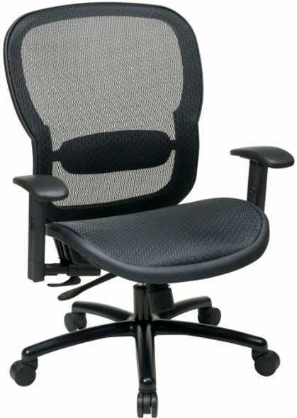 Office Star Big and Tall Mesh Back and Seat Office Chair [839-11B35WA] -1