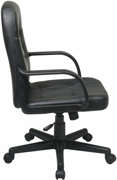 Office Star Eco Leather Mid Back Managers Chair [EC3393] -2