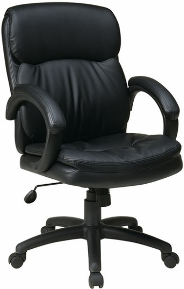 Office Star Eco Leather Mid Back Office Chair [EC9231] -1