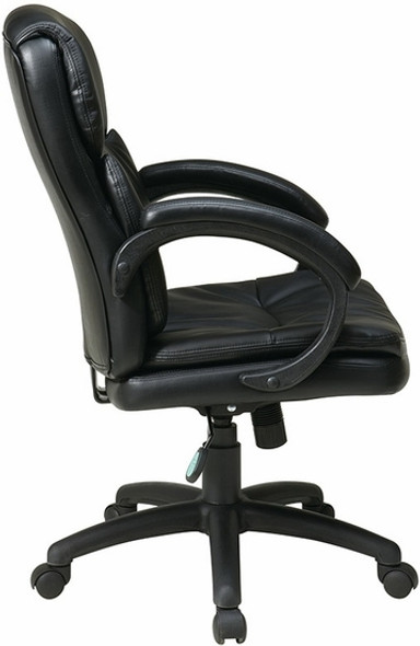 Office Star Eco Leather Mid Back Office Chair [EC9231] -2