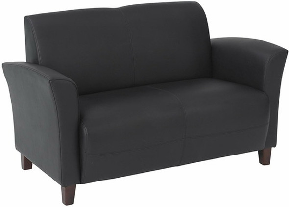 Flared Arm Eco Leather Loveseat [SL2272] -2