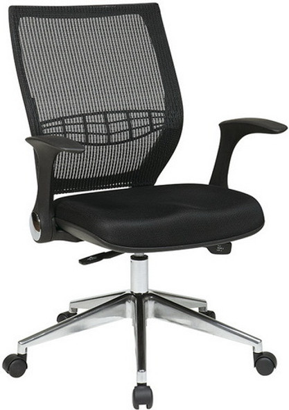 Office Star Mesh Back Managers Chair with Fold Away Arms [80885] -1