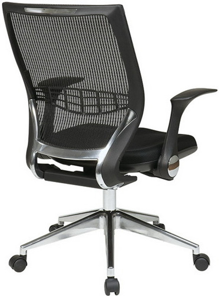 Office Star Mesh Back Managers Chair with Fold Away Arms [80885] -2