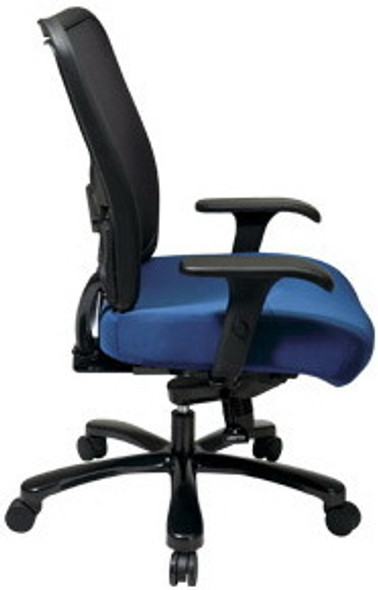 Mesh Back Big and Tall Chair with Custom Seat [75-7A773] -2