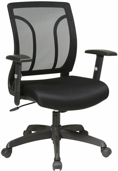 Office Star Screen Back Task Chair with Adjustable Arms [EM50727] -2