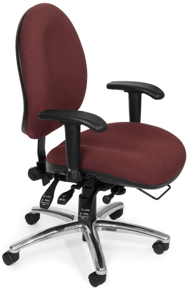 OFM 24 Hour Rated Big and Tall Office Chair 247 (Angle View)