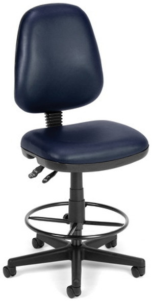 Ergonomic Vinyl Drafting Chair [119-VAM-DK] -2