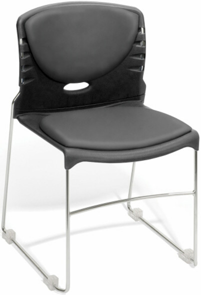 OFM Vinyl Upholstered Plastic Stack Chairs [320-VAM] -2