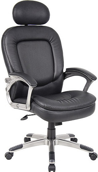 Perforated Pillow Top Boss Office Chair [B7106] -2