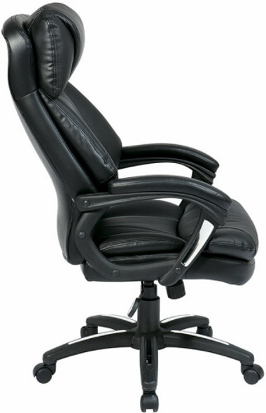 Plush Faux Leather Office Star Executive Chair [FL9097] -2