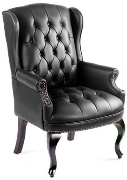 Queen Anne Wingback Office Side Chair [B809] -1