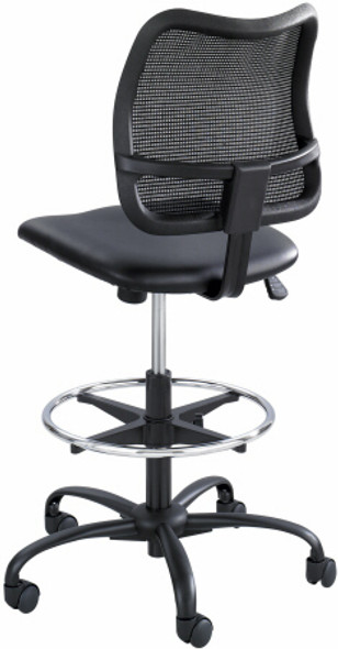 Safco Vue Mesh Back Vinyl Seat Drafting Chair [3395BV] -2