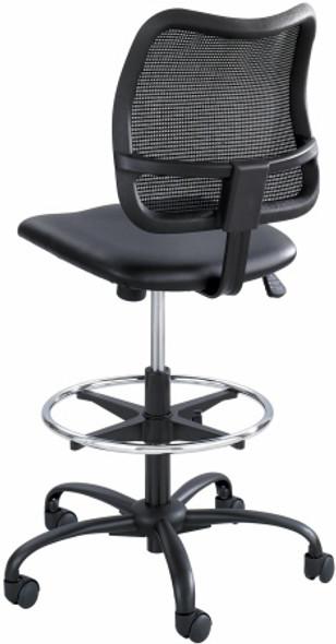 Safco Vue Mesh Back Vinyl Seat Drafting Chair [3395BV] -2
