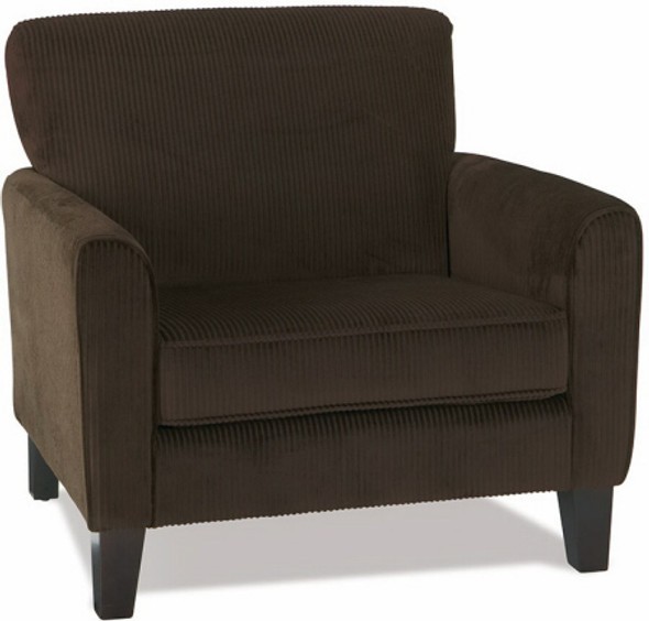 Sierra Collection Dark Brown Corduroy Armchair [SRA51] -1