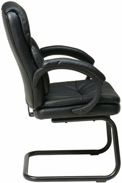Sled Base Eco Leather Office Side Chair [EC9235] -2