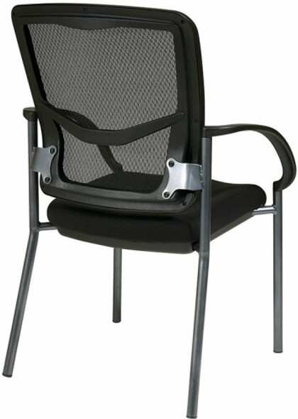 Titanium Finish Mesh Back Guest Chair with Arms [85670] -2
