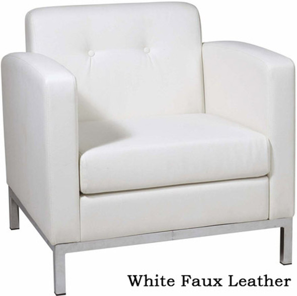 Wall Street Faux Leather Arm Chair [WST51A] -2
