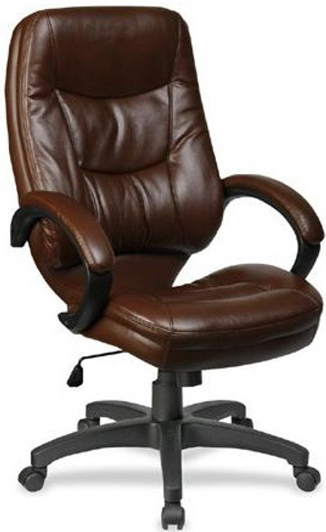 Lorell Westlake High Back Bonded Leather Chair [63280] -2