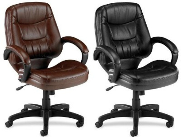 Lorell Westlake Mid Back Bonded Leather Chair [63281] -2