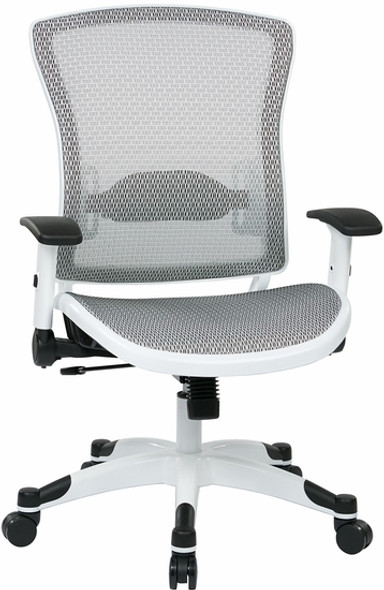 Office Star White All Mesh Office Chair [317W-W11C1F2W] -1