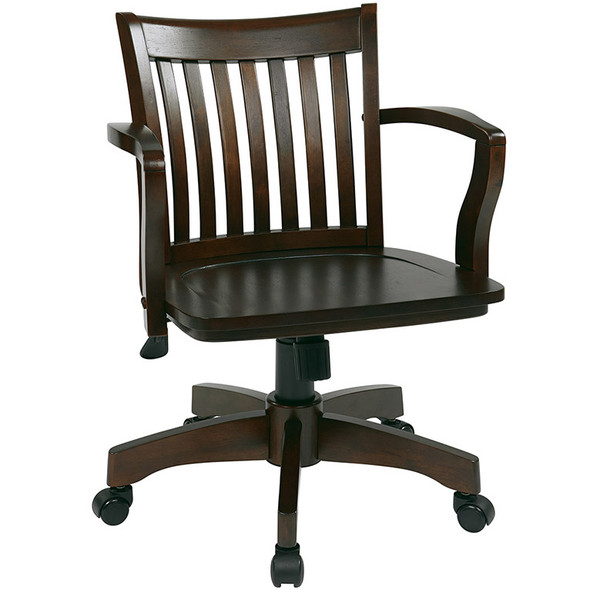 Office Star Wood Bankers Desk Chair [105] -2
