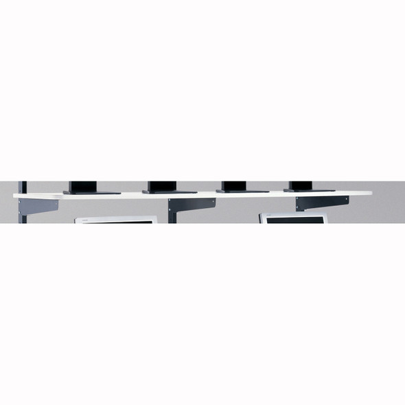 "Mayline LAN 72""x20"" Shelf Graphite / Charcoal [2207218EZ]-1"