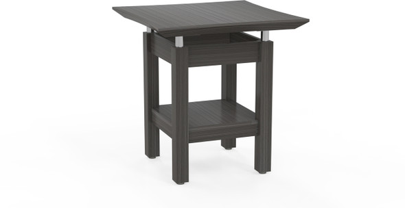"""Mayline Sterling 24"""" Square End Table Textured Driftwood [STETTDW]-1"""