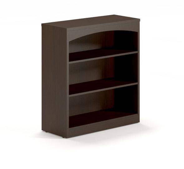 Mayline Brighton Bookcase 3 Shelf Mocha [BTB3S36LDC]-1