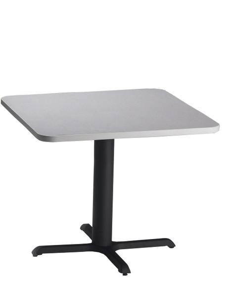 "Mayline Bistro 30"" Square Dining Height Table Black Base, Ice Gray [CA30SLBTFLK]-1"
