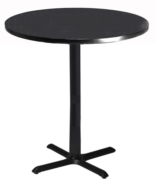 "Mayline Bistro 30"" Round Bar Height Table Black Base [CA30RHBTANT]-1"