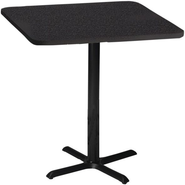"Mayline Bistro 30"" Square Bar Height Table Black Base [CA30SHBTANT]-1"