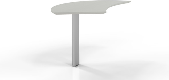 Mayline Medina Curved Desk Extension Left Textured Sea Salt [MNEXTLTSS]-1