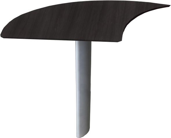 Mayline Medina Curved Desk Extension Left Mocha Laminate [MNEXTLLDC]-1
