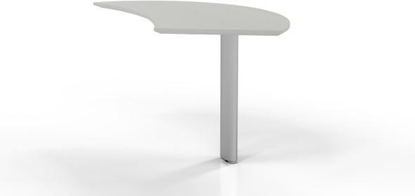 Mayline Medina Curved Desk Extension Right Textured Sea Salt [MNEXTRTSS]-1