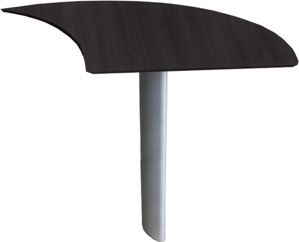 Mayline Medina Curved Desk Extension Right Mocha [MNEXTRLDC]-1