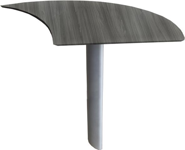 Mayline Medina Curved Desk Extension Right Gray Steel [MNEXTRLGS]-1