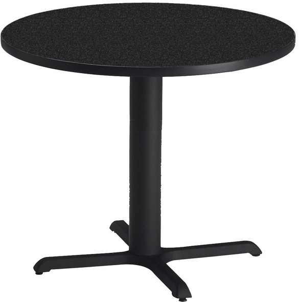 "Mayline Bistro 36"" Round Dining Height Table Black Base [CA36RLBTANT]-1"