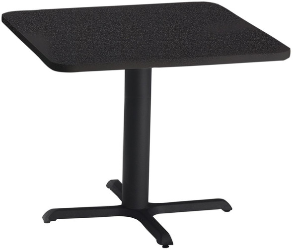 """Mayline Bistro 36"""" Square Dining Height Table Black Base [CA36SLBTANT]-1"""