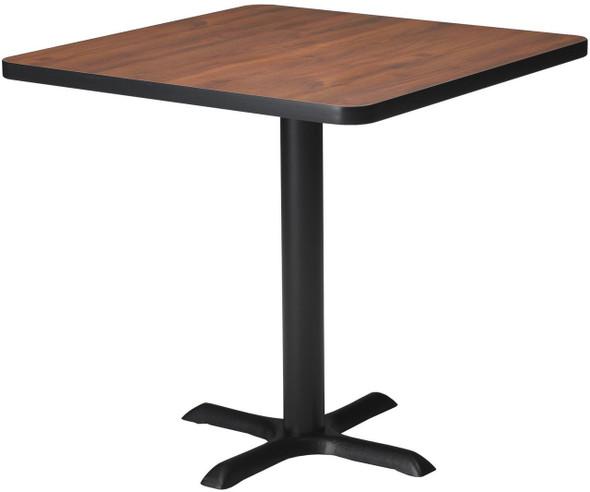 "Mayline Bistro 30"" Square Dining Height Table Black, Regal Mahogany [CA36SLBTRMH]-1"