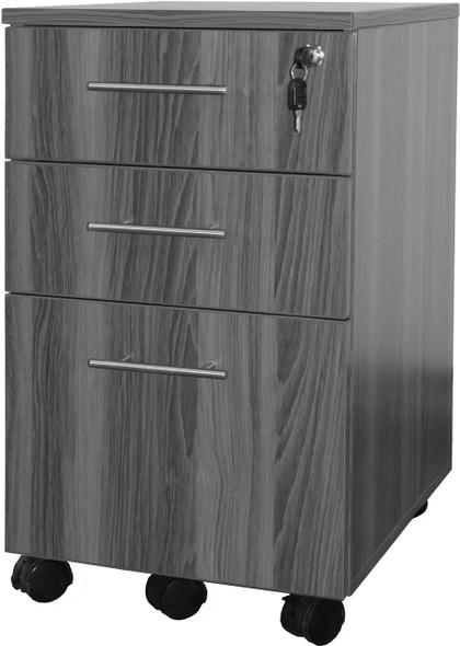 Mayline Medina Pedestal Box-Box-File Gray Steel [MNBBFLGS]-1