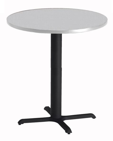 "Mayline Bistro 36"" Round Bar Height Table Black Base, Ice Gray [CA36RHBTFLK]-1"