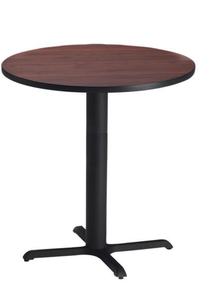 "Mayline Bistro 36"" Round Bar Height Table Black, Regal Mahogany [CA36RHBTRMH]-1"