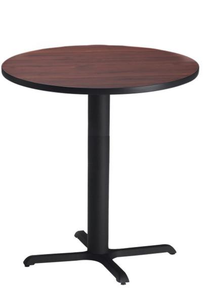 "Mayline Bistro 36"" Round Bar Height Table Black, Regal Mahogany [CA36RHBTRMH]-1"